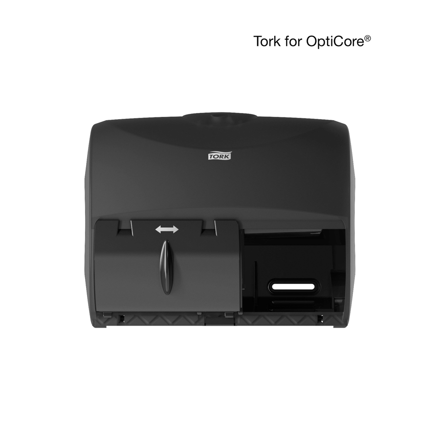 Bath Tissue Dispenser Opticore 2 Roll Black ea
