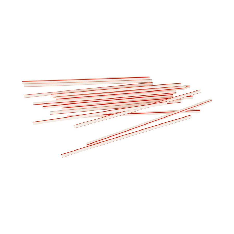 "Coffee Stirrer 5"" Striped 10000/cs"