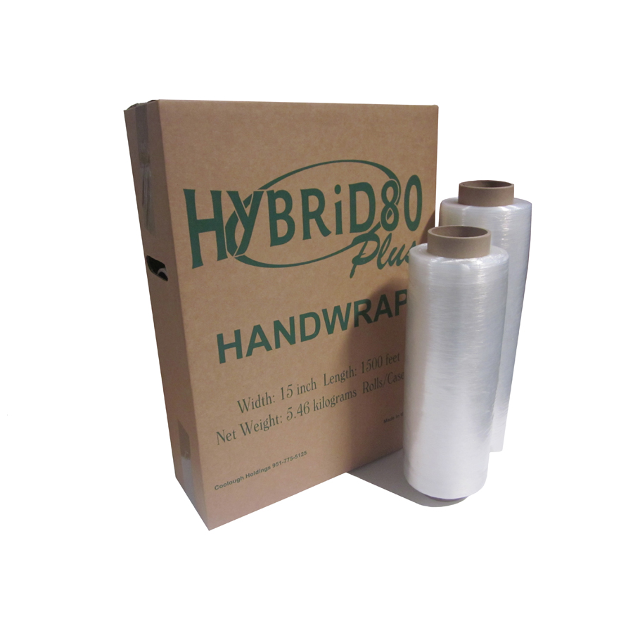 "Prestretch Film Hybrid 80 Gauge 17""X1500' 4/cs"