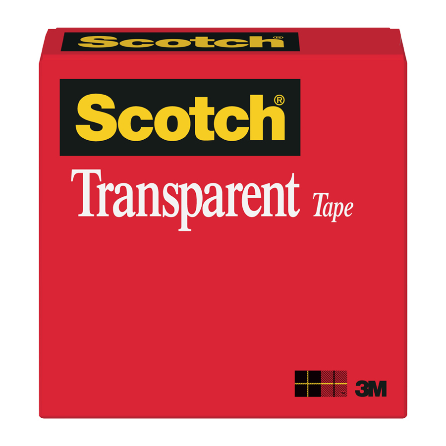 "3M 600 Scotch Light Duty  Tape .5""X72yd Roll"