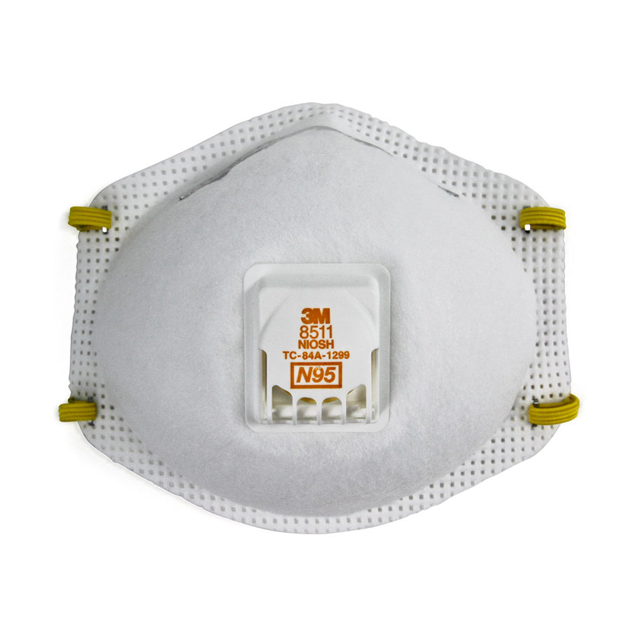 3M 8511 Particulate Mask W/ Valve 10/bx