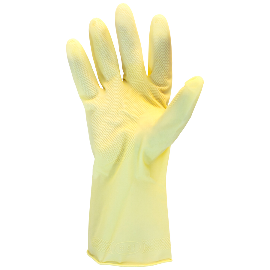 Latex Glove Unlined Amber Medium 144/bg
