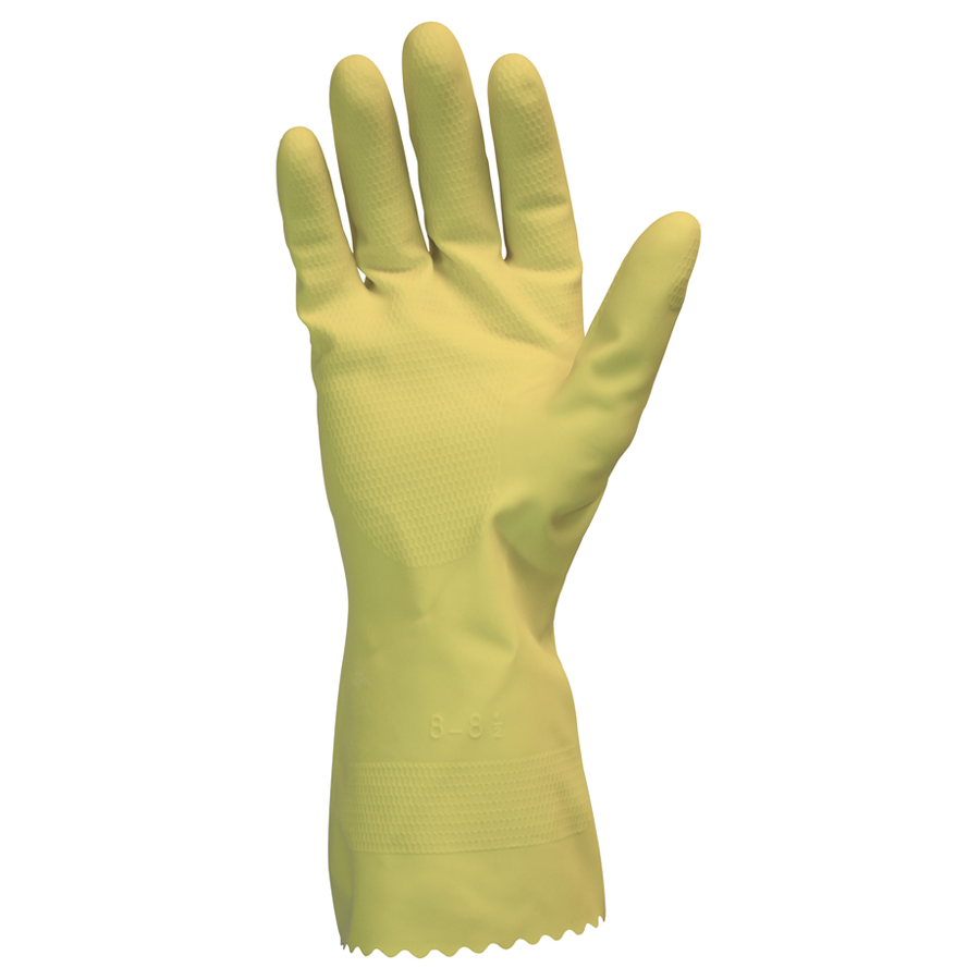 Beadcuff Glove Flockline Yellow Large 144/bg